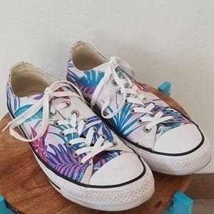 Converse tropical floral Hawaiian Sneakers